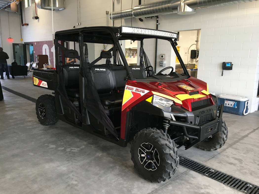 A rescue off-road vehicle, one of the features of Fire Station 91, will allow firefighters to rescue people from the 14 miles of hiking trails in the area. (Diego Mendoza-Moyers/View) @dmendozamoyers