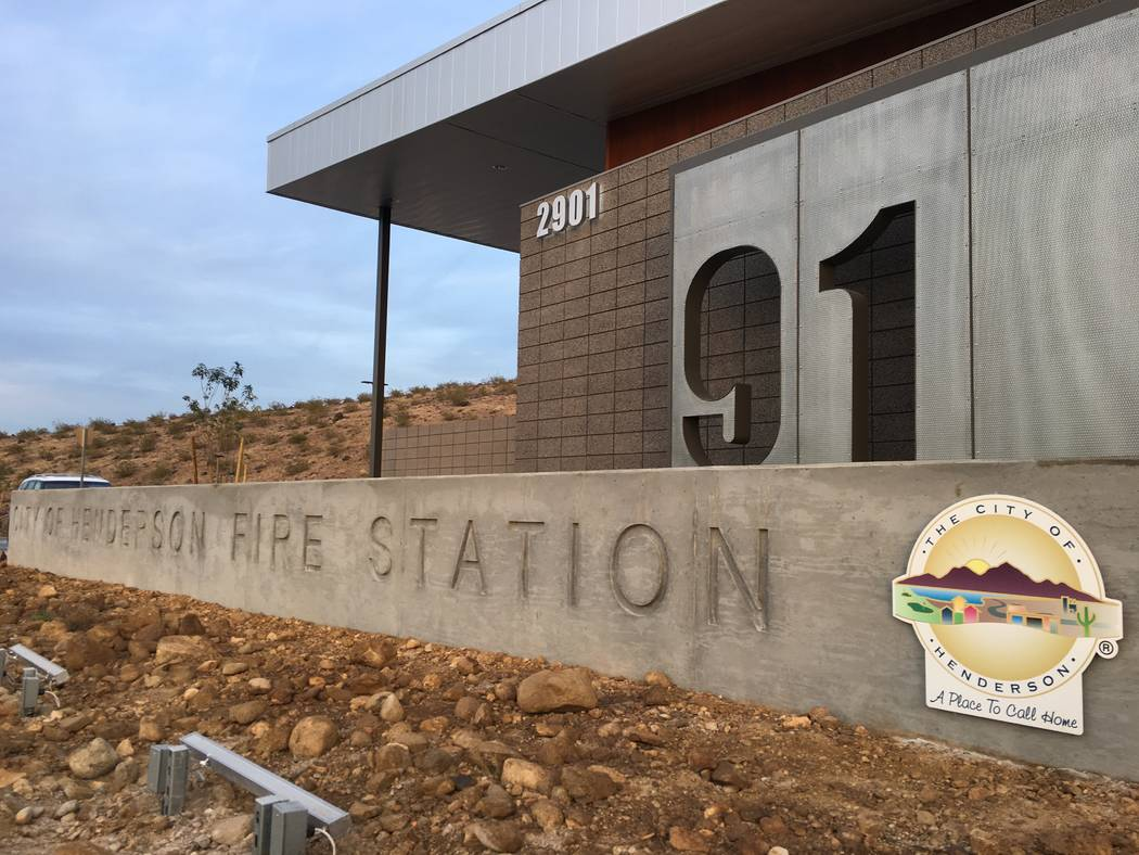The new fire station will serve the Inspirada and Madeira Canyon neighborhoods. (Diego Mendoza-Moyers/View) @dmendozamoyers