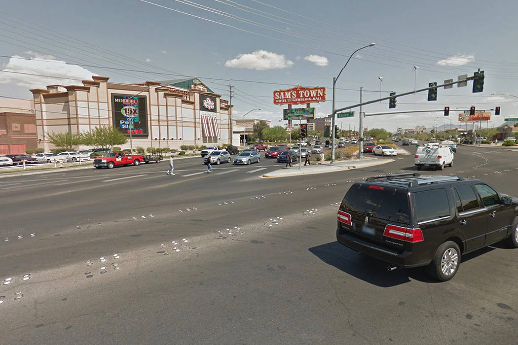 Boulder Highway and South Nellis Boulevard. Google Street View image.