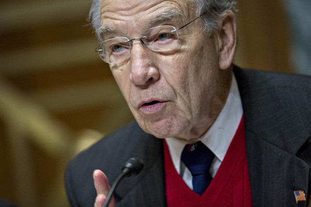 "Sen. Charles ""Chuck"" Grassley.  Bloomberg photo by Andrew Harrer."