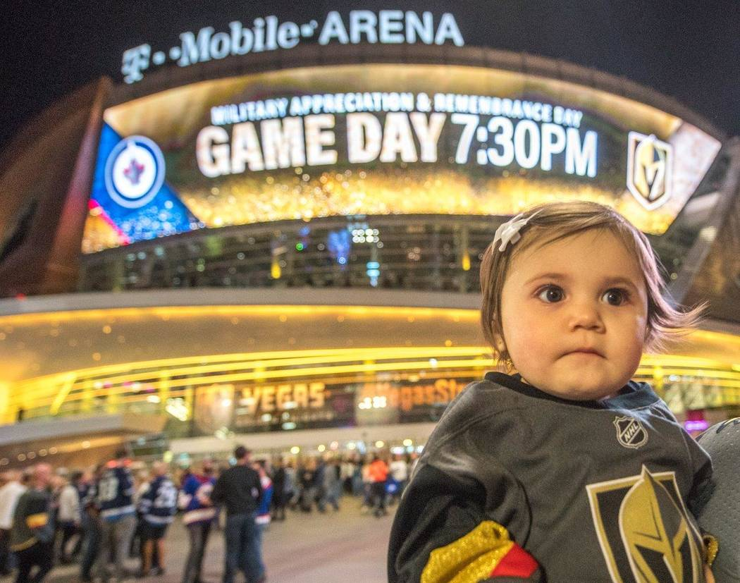 A young Golden Knights fan. (Tom Donoghue)