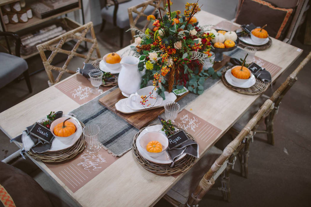 Skyros Designs Natural elements and a classic color palette capture what makes this season so enchanting