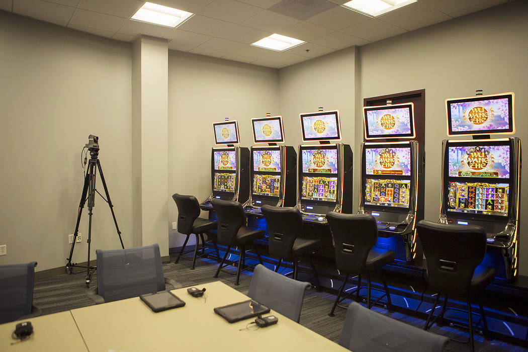 The focus group room at International Game Technology, also referred to as IGT, on Wednesday, Sept. 20, 2017, in Las Vegas.  Bridget Bennett Las Vegas Review-Journal @bridgetkbennett