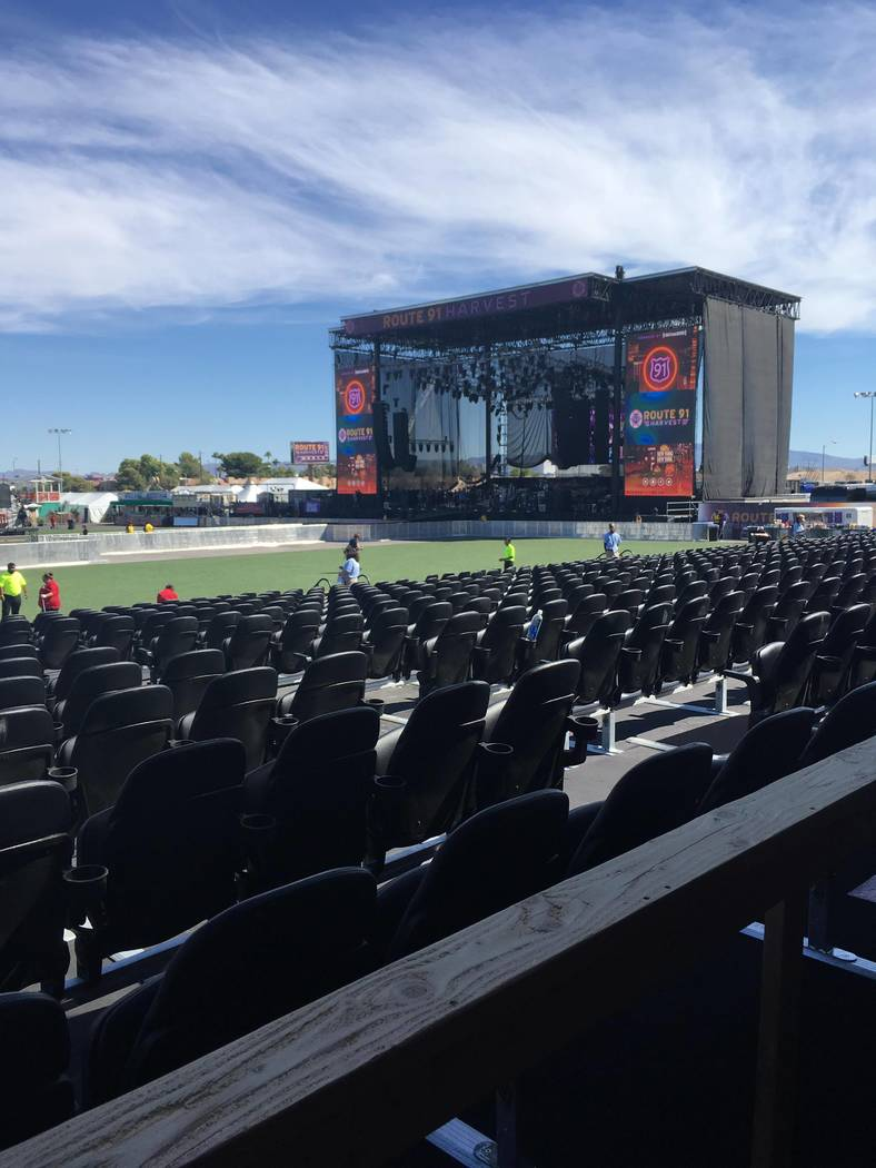 An empty stage on the first day of the Route 91 Harvest music festival targeted in the Las Vegas Strip shooting. The 240 bartenders, bartender assistants and servers who worked the event have been ...
