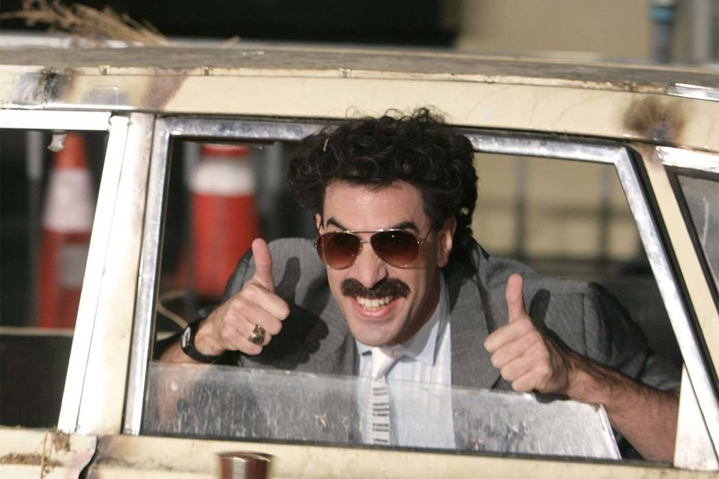 8afe48492a Actor Sacha Baron Cohen arrives in character as Borat for the film premiere  of  Borat