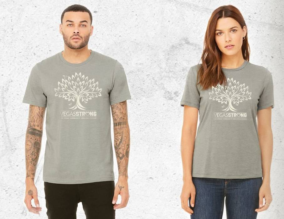 The city of Las Vegas is selling community garden T-shirts at vegasstore.vegas. The proceeds will help pay for upkeep of the Community Healing Garden, which was created in the week after the Route ...