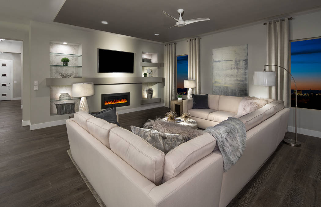 Pulte Homes Boasting a rugged contemporary design, Vistara in The Cliffs village in Summerlin, has four homes available for quick move in, ranging from 2,439 to 2,599 square feet and priced from $ ...