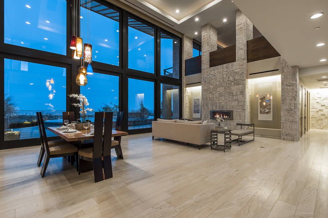 Shapiro & Sher Group The home was designed to take in the views of the nearby Spring Mountains and the Las Vegas Strip.