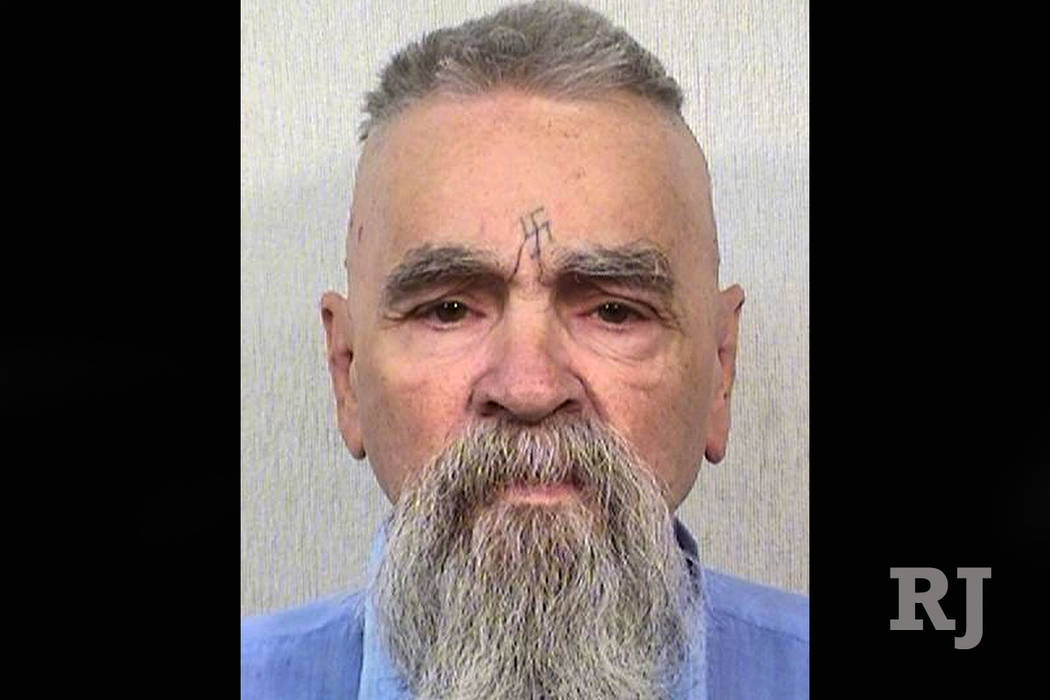 Charles Manson is seen in 2014. (California Department of Corrections via AP, File)