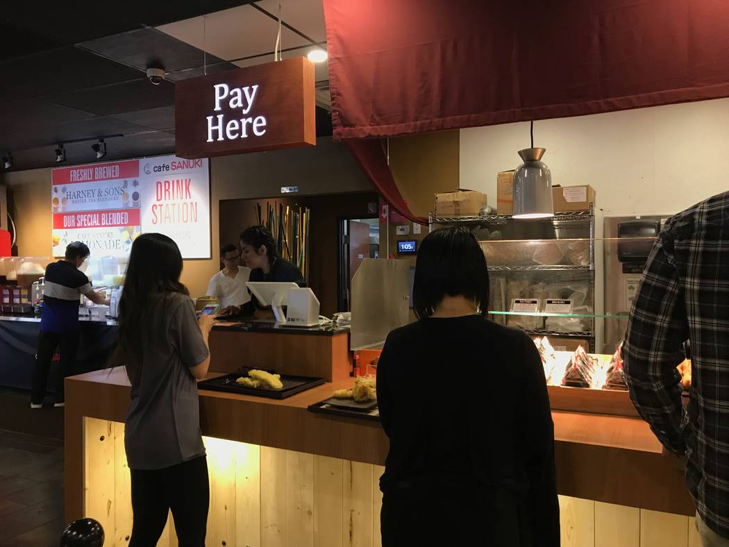 Cutomers order at Cafe Sanuki noodle bar in Las Vegas, Wednesday, Nov. 15, 2017. Madelyn Reese View @MadelynGReese