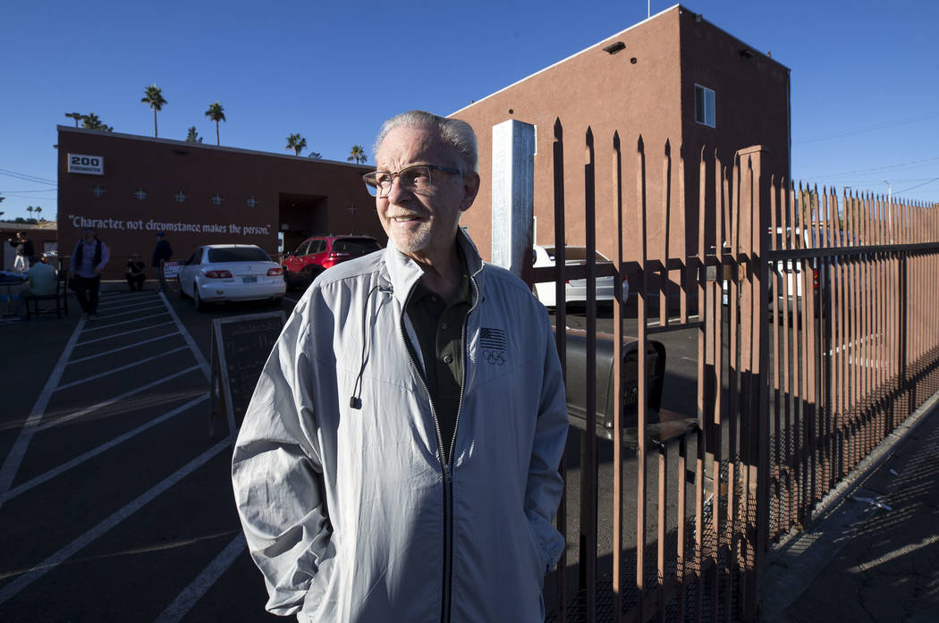 CARE Complex Executive Director Glenn Trowbridge stands at the entrance to his facility at 200 Foremaster Lane in Las Vegas, Wednesday, Nov. 22, 2017. Richard Brian Las Vegas Review-Journal @vegas ...