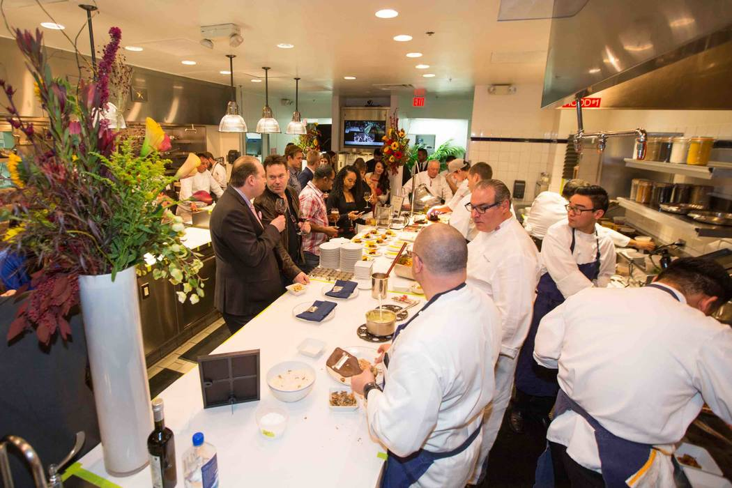 Chef Matthew Kirkley from COI in San Francisco and his assistant Mimi Chen won Ment'or selection challenge at The Venetian. They celebrated at a party in Bouchon with such famed chefs as Paul Ba ...