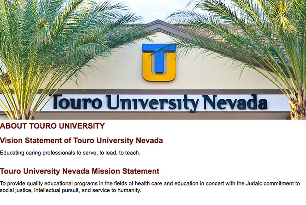 Touro University Nevada is a nonprofit, Jewish-sponsored private institution that opened in 2004 with 78 medical students. (Touro University website)