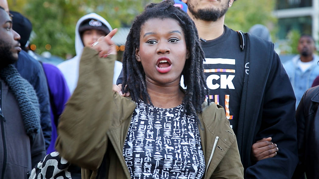 "Activist Makayla Gilliam-Price is featured in ""Baltimore Rising."" (courtesy of HBO)"