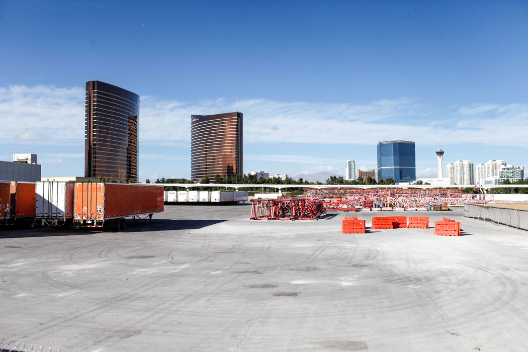 A site to be used as a music venue located east of the Strip nearby the intersection of Koval Lane and Sands Avenue in Las Vegas, Friday, Nov. 17, 2017. Joel Angel Juarez Las Vegas Review-Journal  ...