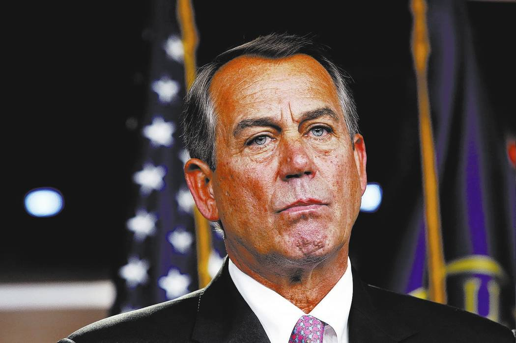 U.S. House Speaker John Boehner (R-OH) speaks at a news conference on Capitol Hill in Washington May 14, 2015. REUTERS/Yuri Gripas