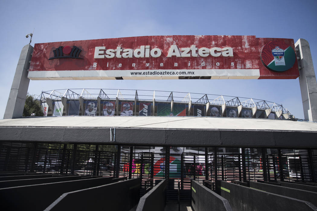 Estadio Azteca, in Mexico City, Mexico, where the Raiders and Patriots are scheduled to play on Nov. 19 in a regular season NFL football game, Friday, Nov. 17, 2017. Erik Verduzco Las Vegas Review ...