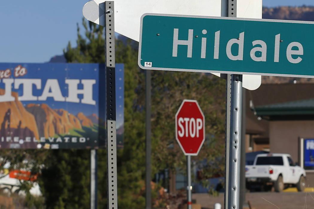 The Utah state line is seen in Hildale, Utah, last month.  (AP Photo/Rick Bowmer)