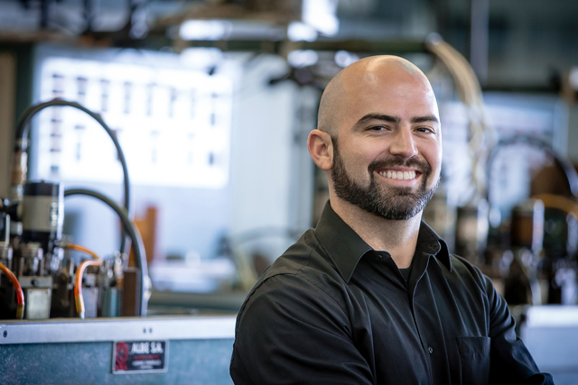 Matt Fisher, vice president of sales for Fisher Space Pen, is carrying on his grandfather's legacy. He has worked at the Boulder City factory since he was 8 years old.