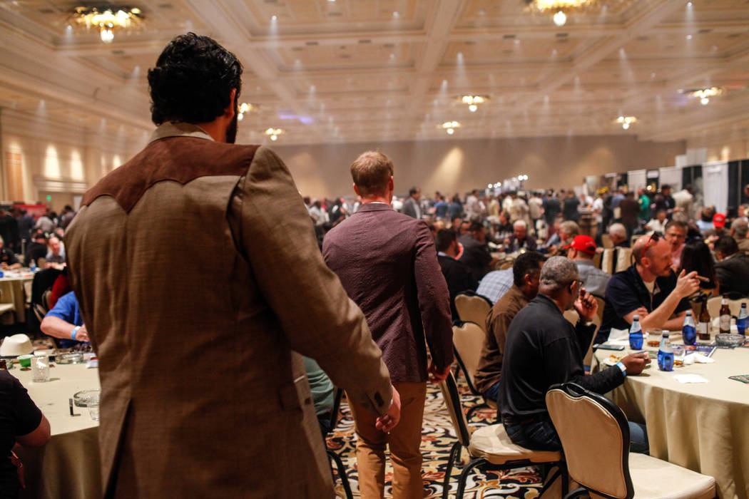 People attend the Cigar Aficionado's Big Smoke Las Vegas weekend event at The Mirage in Las Vegas, Saturday, Nov. 18, 2017. Joel Angel Juarez Las Vegas Review-Journal @jajuarezphoto