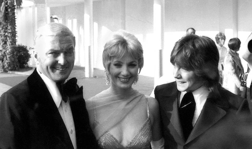 """Actor Jack Cassidy, his wife, actress singer Shirley Jones, and son David, arrive at the Palladium in Hollywood May 9,1971 for the annual Emmy Awards show. Cassidy was a nominee in the """"b ..."""