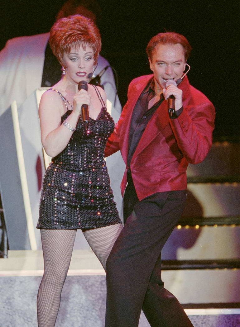 """David Cassidy and Sheena Easton perform during the opening of the show """"At the Copa"""" February 3, 2000, at the Rio in Las Vegas. Glenn Pinkerton/Las Vegas News Bureau"""