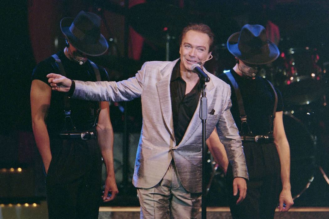 """David Cassidy performs during the opening of his show """"At the Copa"""" February 3, 2000, at the Rio in Las Vegas. Glenn Pinkerton/Las Vegas News Bureau"""