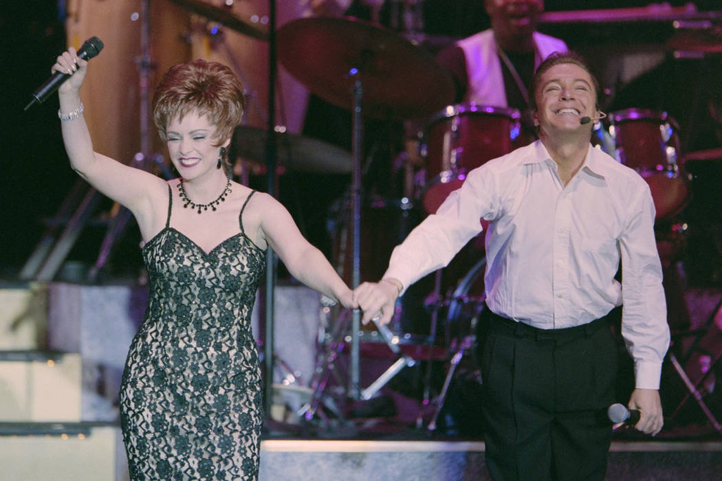 "David Cassidy and Sheena Easton perform during the opening of the show ""At the Copa"" February 3, 2000, at the Rio in Las Vegas. Glenn Pinkerton/Las Vegas News Bureau"