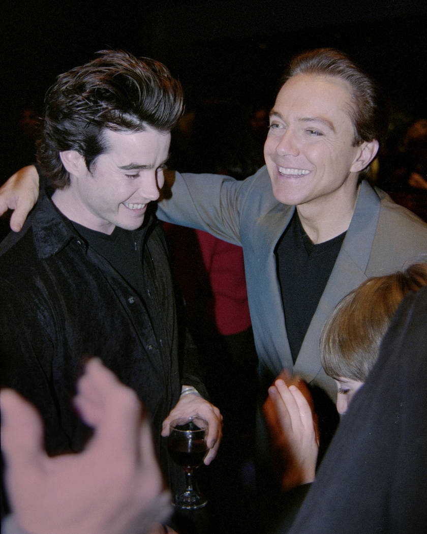 """David Cassidy greets a fan after the opening of his show """"At the Copa"""" February 3, 2000, at the Rio in Las Vegas. Glenn Pinkerton/Las Vegas News Bureau"""