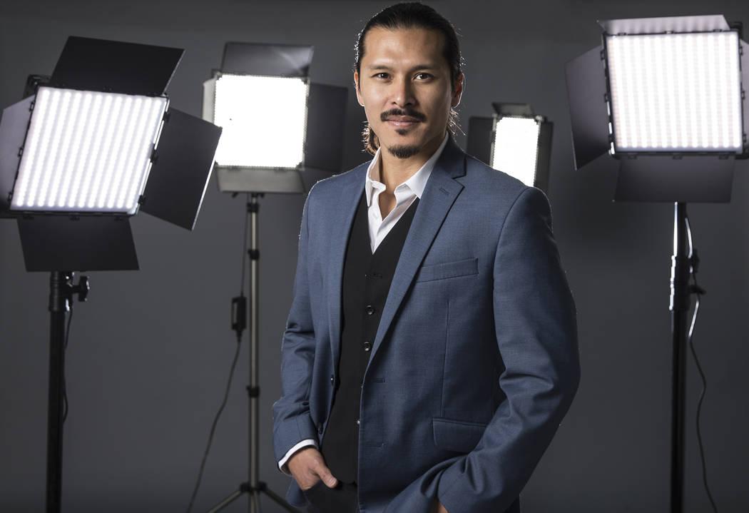 Filmmaker and political activist Hermon Farahi at his Las Vegas studio on Saturday, Nov. 19, 2017. Benjamin Hager Las Vegas Review-Journal @benjaminhphoto