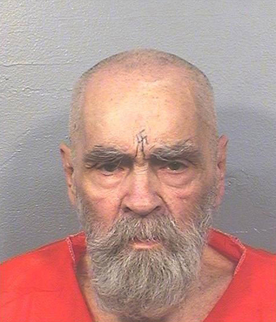 This Aug. 14, 2017 photo provided by the California Department of Corrections and Rehabilitation shows Charles Manson. A spokeswoman for the California Department of Corrections and Rehabilitation ...