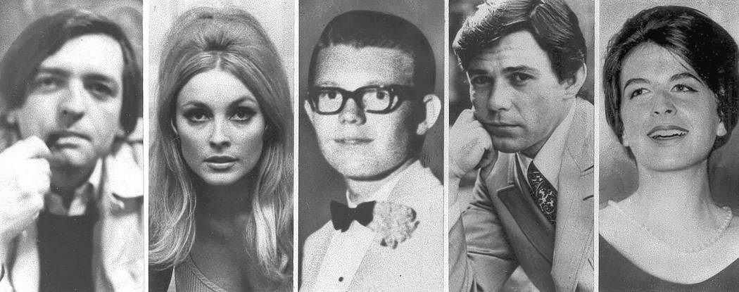 Combo image shows the five victims slain the night of Aug. 9, 1969 at the Benedict Canyon Estate of Roman Polanski. From left, Voityck Frykowski, Sharon Tate, Stephen Parent, Jay Sebring, and Abig ...
