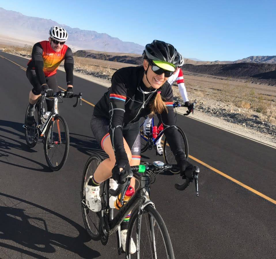 Bike riders hit the road, Nov. 11, 2017. The local bicycle coalition is trying to make motorists aware of the Three Feet Law, which required drivers to maintain a three-foot distance from those on ...
