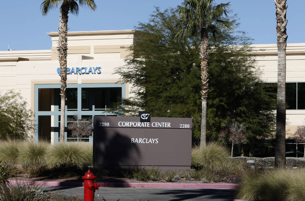 Barclays buildings at 2290 and 2280 Corporate Center Circle photographed on Wednesday, Nov. 22, 2017, in Henderson. New York investors bought two office buildings in Green Valley for about $36 mil ...
