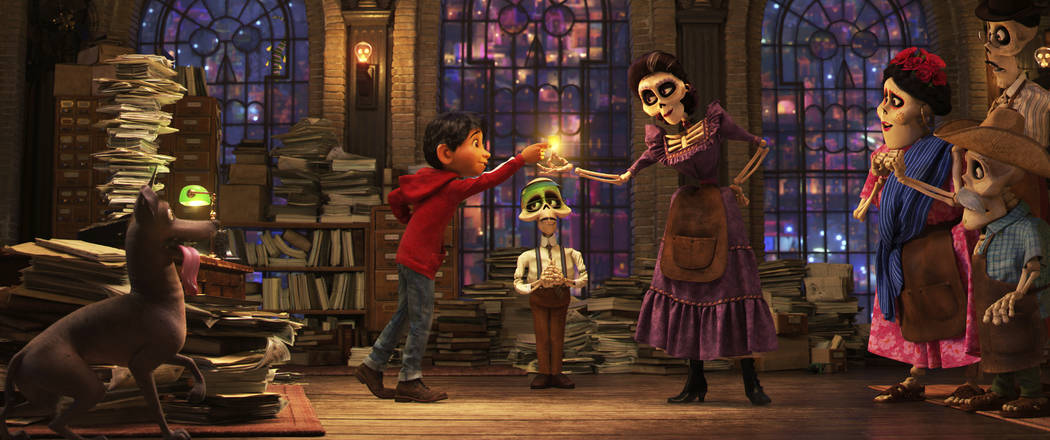 "This image released by Disney-Pixar shows a scene from the animated film, ""Coco."" (Disney•Pixar via AP)"