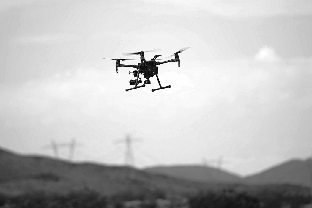 A demonstration of the DJI Matrice 200 drone at the Henderson Unmanned Vehicle Range in Henderson, Tuesday, Sept. 5, 2017. Erik Verduzco/Las Vegas Review-Journal