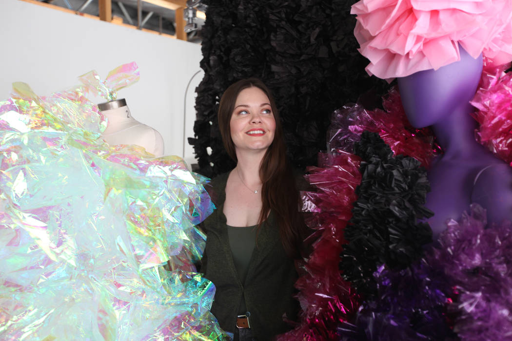 Jennifer Henry surrounded by her work at her studio at UNLV in Las Vegas, Monday, Nov. 13, 2017. Rachel Aston Las Vegas Review-Journal @rookie__rae
