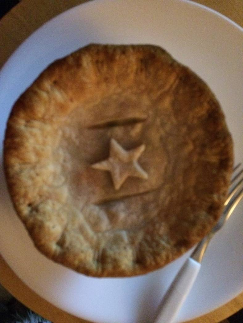 Pie Me Over's chicken pot pie with cheddar crust