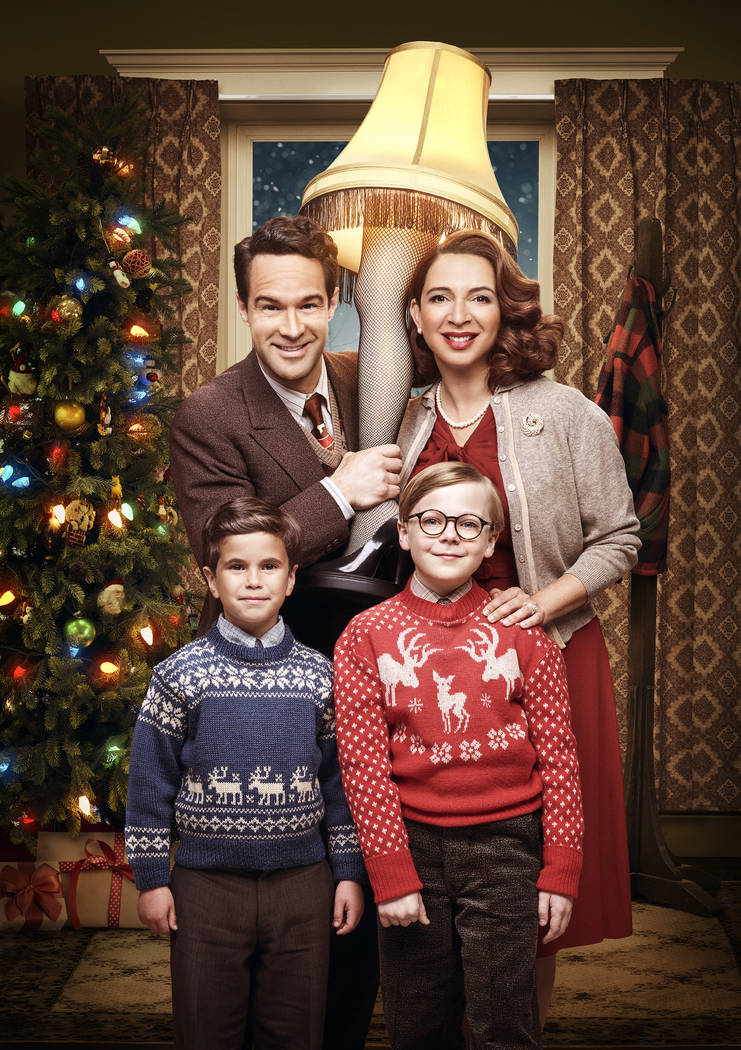 Chris Diamantopoulos, Maya Rudolph, Andy Walken and Tyler Wladis in FOX live musical event, A Christmas Story Live!, airing Sunday, Dec. 17 (7:00-10:00 PM ET live/PT tape-delayed) on FOX. Tommy Ga ...