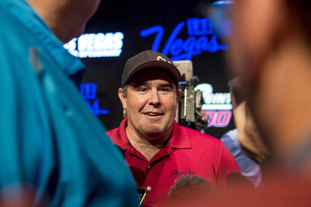 Brendan Gaughan discusses his 2018 racing plans after the South Point hotel-casino's announcement that it will be the title sponsor of the September Monster Energy NASCAR Cup Series race at Las Ve ...