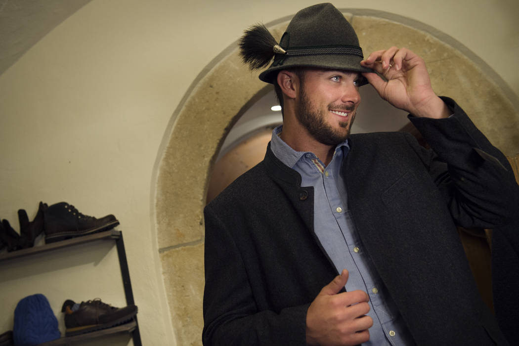 Chicago Cubs baseballer Kris Bryant travelled to Salzburg, Austria on honeymoon with his new wife Jessica. Bryant sported Lederhosen, hooked with red Bull and took to the city's streets to  ...