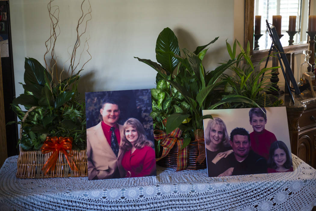 Photos of Jack and Laurie Beaton at their home in Bakersfield, Calif. on Monday, Nov. 6, 2017. Jack Beaton died protecting Laurie during the Oct. 1 shooting in Las Vegas. (Chase Stevens/Las Vegas  ...