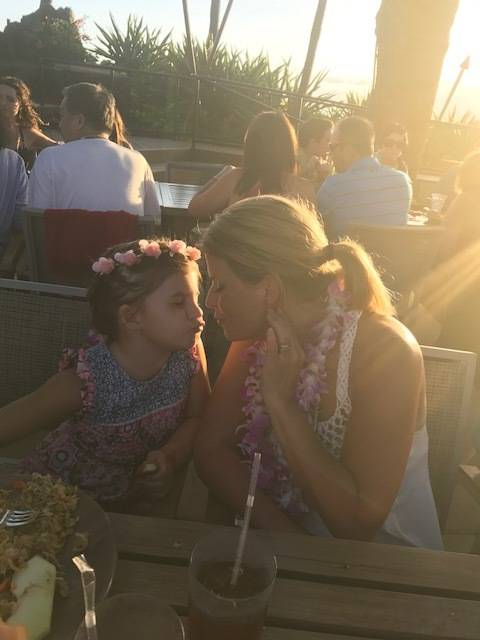 Rhonda LeRocque and daughter Ali share an affectionate pose during a Maui vacation. Rhonda was killed at the Oct. 1 shooting in Las Vegas.