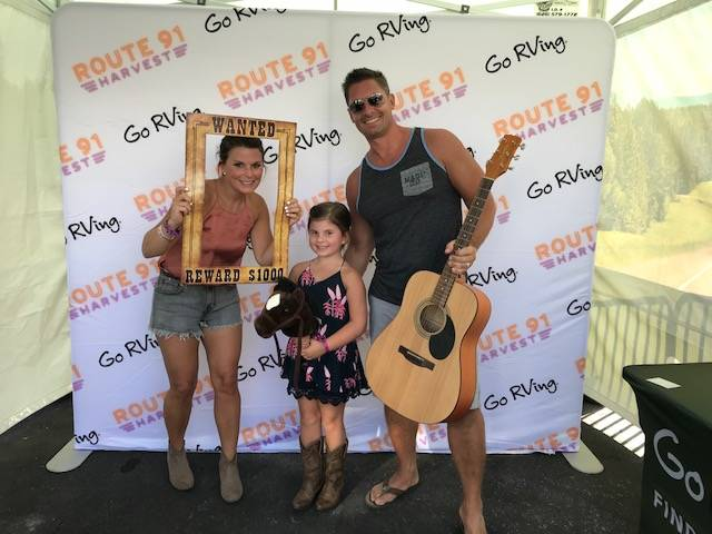 Jason LeRocque, daughter Ali and wife Rhonda camp it up for the camera at the Route 91 Harvest Music Festival. Rhonda was later killed at the shooting at the festival on Oct. 1.