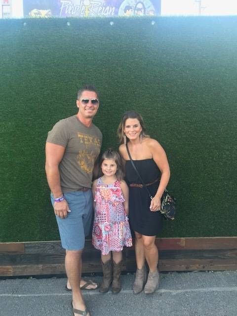 Jason LeRocque, daughter Ali and wife Rhonda pose at the Route 91 Harvest Music Festival. Rhonda was killed at the shooting at the festival on Oct. 1.