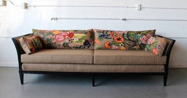 Soleil Design After: Some new filling and fabric turn this dilapidated sofa into a beautiful piece of furniture.