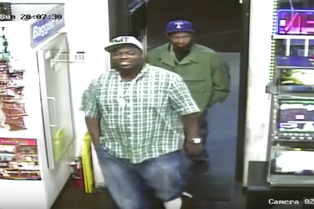 Las Vegas police are seeking to identify two men wanted in connection with a shooting that took place on the evening of Nov. 5th. (Las Vegas Metropolitan Police Department)