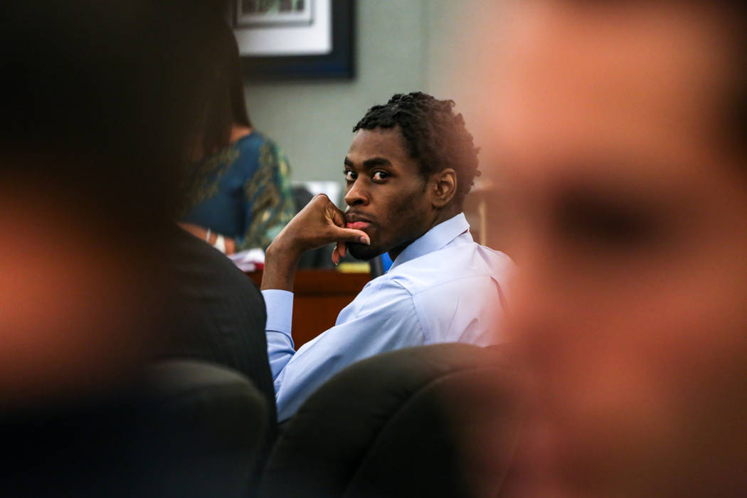 Bryan Clay listens to testimony during his death penalty trial at the Regional Justice Center in Las Vegas, Thursday, Nov. 2, 2017. Joel Angel Juarez Las Vegas Review-Journal @jajuarezphoto