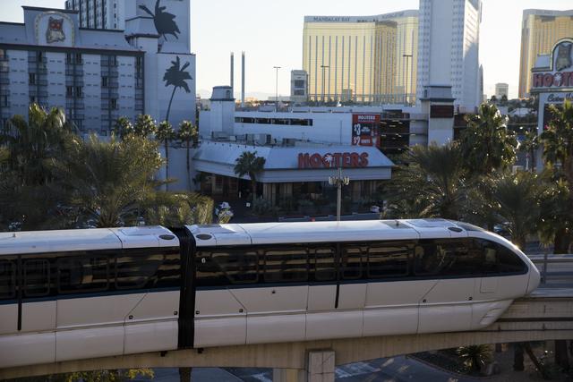 The Las Vegas Monorail at the MGM Grand hotel-casino on Wednesday, Dec. 28, 2016, in Las Vegas. Erik Verduzco/Las Vegas Review-Journal Follow @Erik_Verduzco