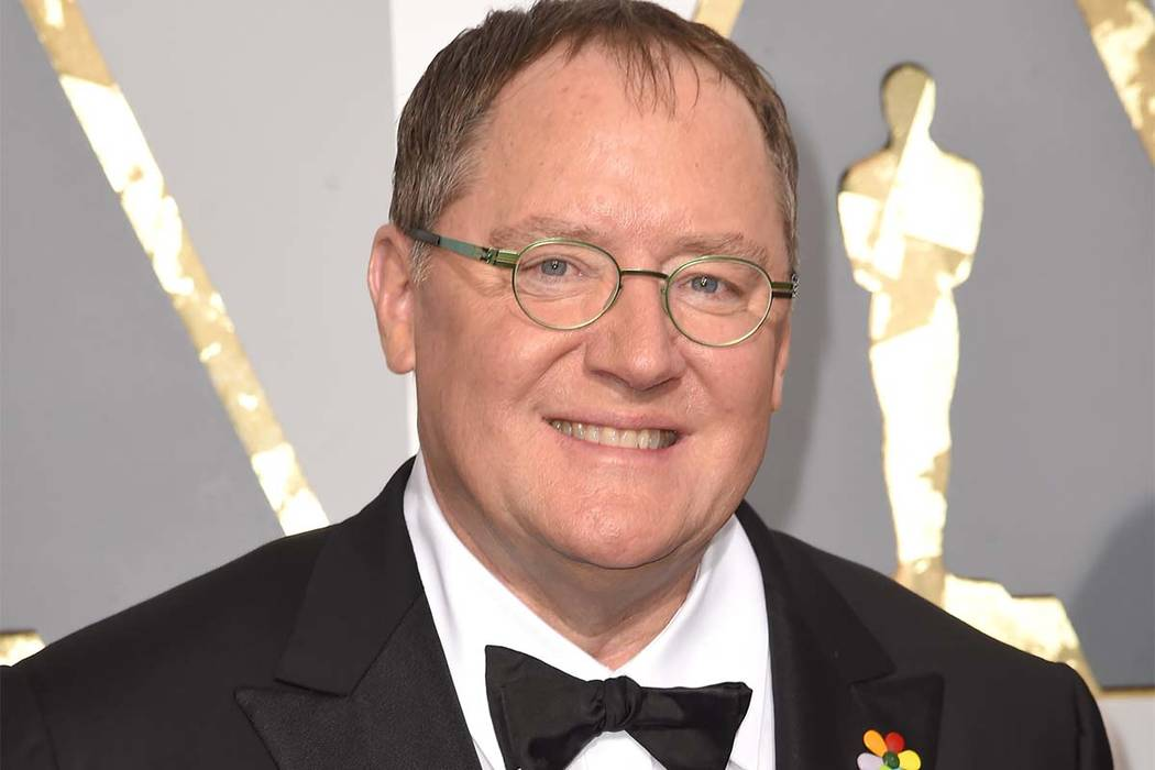 "In this Feb. 28, 2016 file photo, Pixar co-founder and Walt Disney Animation chief John Lasseter arrives at the Oscars in Los Angeles. Lasseter is taking a six-month leave of absence citing ""mis ..."